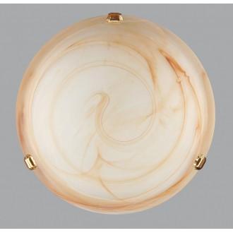 LAMPEX 210/P1 ST | Duna-Ambra Lampex stropné svietidlo 1x E27 zlatý, jantárové