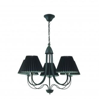 LAMPEX 286/5 | Onyks Lampex luster svietidlo 5x E27 čierna, chróm