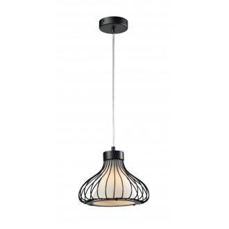 LAMPEX 298/A | Kenia Lampex visiace svietidlo 1x E27 čierna, biela