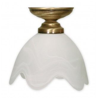 LEMIR 001/W1 K_1 | Fuksia Lemir stropné svietidlo 1x E27 bronzová, alabaster
