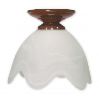 LEMIR 001/W1 K_6 | Fuksia Lemir stropné svietidlo 1x E27 hnedá, alabaster