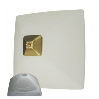 LEMIR 005/K2 K_7 | Krzyzak Lemir stenové, stropné svietidlo 1x E27 chrom, matné, biela