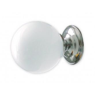LEMIR 206/K1 | Kluska Lemir rameno stenové svietidlo 1x E14 chróm, biela