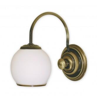 LEMIR 280/K1 | Rodos Lemir rameno stenové svietidlo 1x E27 bronzová, biela