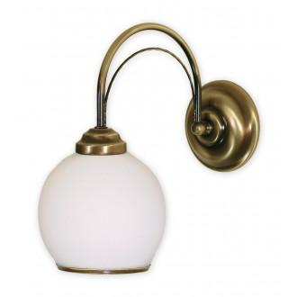 LEMIR 330/K1 | Koral Lemir rameno stenové svietidlo 1x E27 bronzová, biela