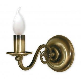 LEMIR 380/K1 | Swiecznik Lemir rameno stenové svietidlo 1x E14 bronzová