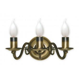 LEMIR 382/K3 | Swiecznik Lemir rameno stenové svietidlo 3x E14 bronzová