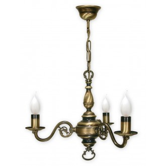 LEMIR 383/W3 | Swiecznik Lemir luster svietidlo 3x E14 bronzová