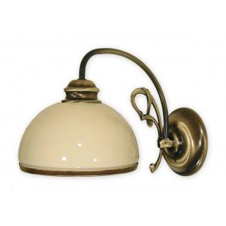 LEMIR 510/K1 | Delta Lemir stenové svietidlo 1x E27 bronzová, krémové