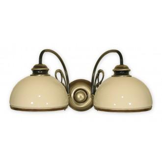 LEMIR 511/K2 | Delta Lemir stenové svietidlo 2x E27 bronzová, krémové