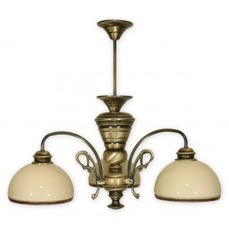 LEMIR 513/W3 | Delta Lemir luster svietidlo 3x E27 bronzová, krémové