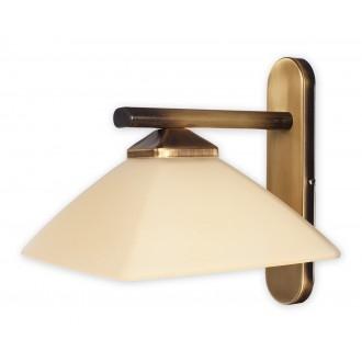 LEMIR 970/K1 | Krzyzak Lemir rameno stenové svietidlo 1x E27 bronzová, krémové