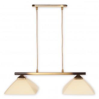 LEMIR 972LP/W2 | Krzyzak Lemir visiace svietidlo vedenie je možné zkrátiť 2x E27 bronzová, krémové
