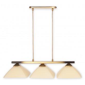 LEMIR 973LP/W3 | Krzyzak Lemir visiace svietidlo vedenie je možné zkrátiť 3x E27 bronzová, krémové