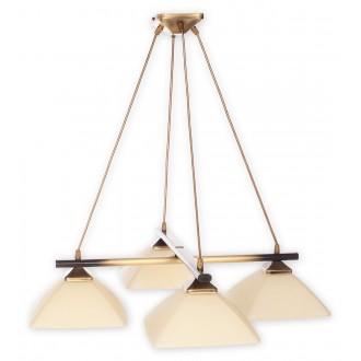 LEMIR 974LS/W4 | Krzyzak Lemir visiace svietidlo vedenie je možné zkrátiť 4x E27 bronzová, krémové