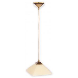 LEMIR 977/W1 | Krzyzak Lemir visiace svietidlo vedenie je možné zkrátiť 1x E27 bronzová, krémové