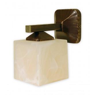 LEMIR O1060/K1 BR | KostkaBR Lemir stenové svietidlo 1x E27 hnedá, antická zlatá , krémové