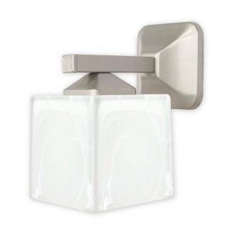 LEMIR O1060/K1 SAT | KostkaSAT Lemir rameno stenové svietidlo 1x E27 chrom, matné, saténový