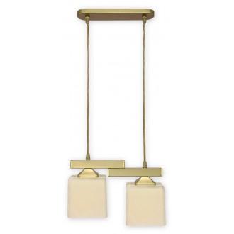 LEMIR O1062/W2 ZL | KostkaZL Lemir visiace svietidlo 2x E27 zlatý, krémové