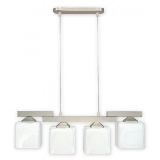 LEMIR O1064/W4 SAT | KostkaSAT Lemir visiace svietidlo 4x E27 chrom, matné, alabaster