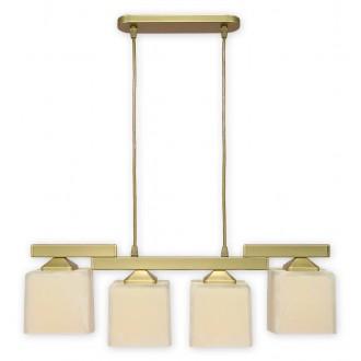 LEMIR O1064/W4 ZL | KostkaZL Lemir visiace svietidlo 4x E27 zlatý, krémové