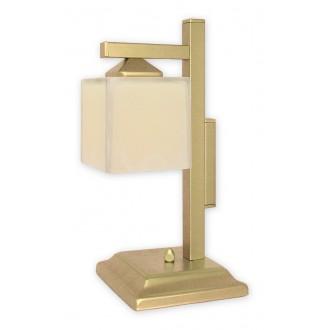 LEMIR O1068D/L1 ZL | KostkaZL Lemir stolové svietidlo 40cm prepínač na vedení 1x E27 zlatý, krémové