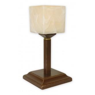 LEMIR O1068G/L1 BR | KostkaBR Lemir stolové svietidlo 35cm prepínač na vedení 1x E27 hnedá, antická zlatá , krémové