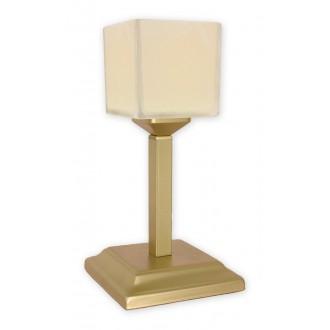 LEMIR O1068G/L1 ZL | KostkaZL Lemir stolové svietidlo 35cm prepínač na vedení 1x E27 zlatý, krémové