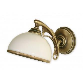 LEMIR O1130/K1 | HektorL Lemir rameno stenové svietidlo 1x E27 bronzová, biela