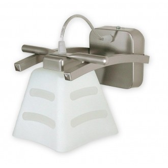 LEMIR O1410 SAT | Dipol Lemir stenové svietidlo 1x E27 matný nikel, biela