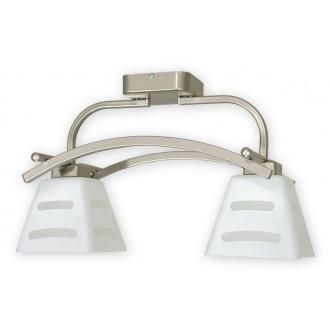 LEMIR O1412P SAT | Dipol Lemir stropné svietidlo 2x E27 matný nikel, biela