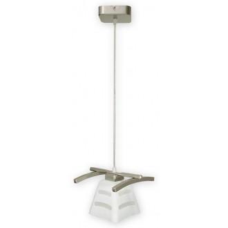LEMIR O1417 SAT | Dipol Lemir visiace svietidlo 1x E27 matný nikel, biela