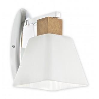 LEMIR O1470 DB | Dreno Lemir stenové svietidlo 1x E27 chróm, dub, biela