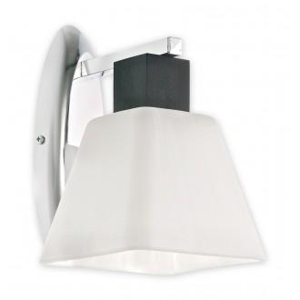 LEMIR O1470 WG | Dreno Lemir stenové svietidlo 1x E27 chróm, wenge, biela