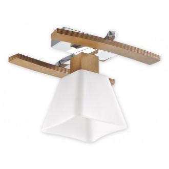 LEMIR O1471 DB | Dreno Lemir stropné svietidlo 1x E27 chróm, dub, biela