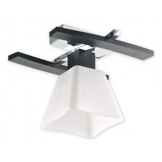LEMIR O1471 WG | Dreno Lemir stropné svietidlo 1x E27 chróm, wenge, biela