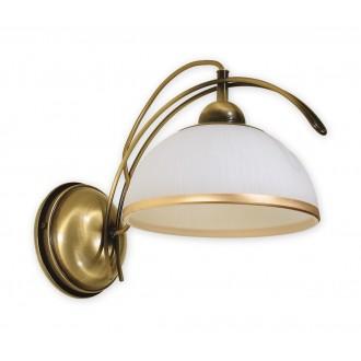 LEMIR O1480 PAT | FlexL Lemir stenové svietidlo 1x E27 bronzová, biela