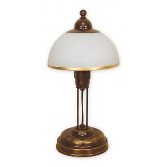 LEMIR O1488 BR | FlexL Lemir stolové svietidlo 40cm prepínač na vedení 1x E27 hnedá, antická zlatá , biela