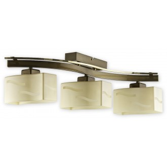 LEMIR O1603 ZP | SonaRega Lemir stropné svietidlo 3x E27 leštená meď, zlatý perleťový lesk