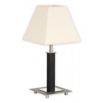 LEMIR O1688M WG | Inari Lemir stolové svietidlo 43cm prepínač na ťah 1x E27 chróm, satén chróm, wenge