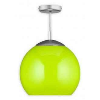 LEMIR O1836 W1 K_4 | Kule Lemir stropné svietidlo 1x E27 matný nikel, zelená