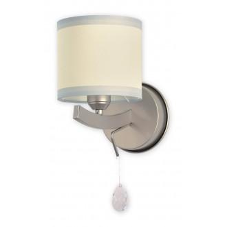 LEMIR O1860 SAT | Konek Lemir stenové svietidlo 1x E27 satén chróm, krémové, priesvitné