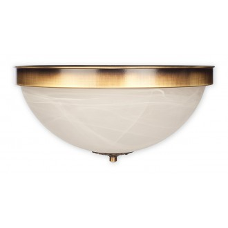 LEMIR O2121 P2 PAT | Arkadia Lemir stropné svietidlo 2x E27 bronzová, biela