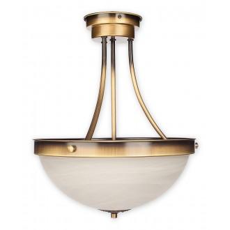 LEMIR O2132 W2 PAT   Arkadia_Plus Lemir stropné svietidlo 2x E27 bronzová, biela