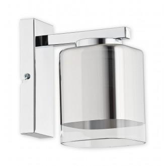 LEMIR O2310 K1 CH | Savia Lemir stenové svietidlo 1x E27 chróm, priesvitné