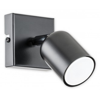 LEMIR O2620 K1 CZA | Denis Lemir spot svietidlo otočné prvky 1x GU10 matná čierna