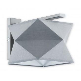 LEMIR O2770 K1 SZA + SZA | Espero Lemir stenové svietidlo 1x E27 matná šedá, sivé