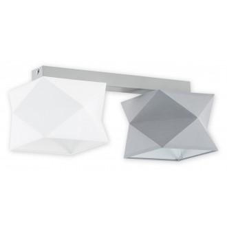 LEMIR O2772 P2 SZA + BIA + SZA | Espero Lemir stropné svietidlo 2x E27 matná šedá, biela, sivé