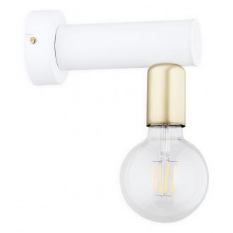LEMIR O2820 K1 BIA | Foco Lemir rameno stenové svietidlo 1x E27 matný biely, patina