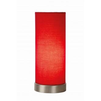 LUCIDE 03508/01/32 | Tubi Lucide stolové svietidlo 25,5cm prepínač na vedení 1x E14 chróm, červená